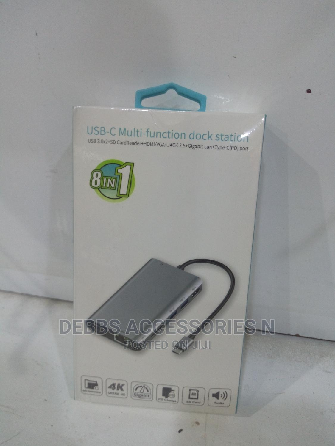 8 in 1 USB Type C Hub   Computer Accessories  for sale in Ikeja, Lagos State, Nigeria