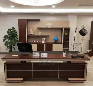 Higher Quality Modern Office Table With Book Shelf   Furniture for sale in Lagos State, Ikeja
