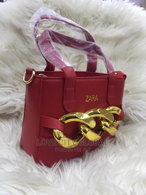 Quality Red Zara Handbags With Gold Designer. Zara Hand Bags   Bags for sale in Lagos State, Ikeja