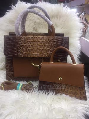 Quality 2in1 Crocodile Leather Bag Crocodile Leather Handbag   Bags for sale in Lagos State, Ikeja