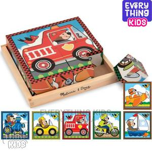 Vehicles Wooden Cube Puzzle | Toys for sale in Lagos State, Ikeja