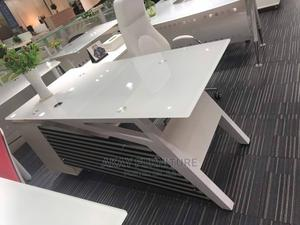 White Glass Executive Table Size 1.6meters | Furniture for sale in Lagos State, Abule Egba