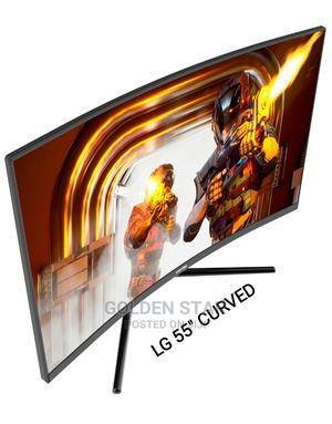 """New One LG 55""""Inch Curved Screen UHD 4K SMART Netflix App TV 