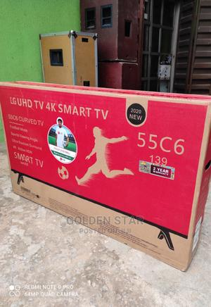 LG 55''inch CURVED Screen UHD 4K SMART TV Google App + Mount | TV & DVD Equipment for sale in Lagos State, Ojo