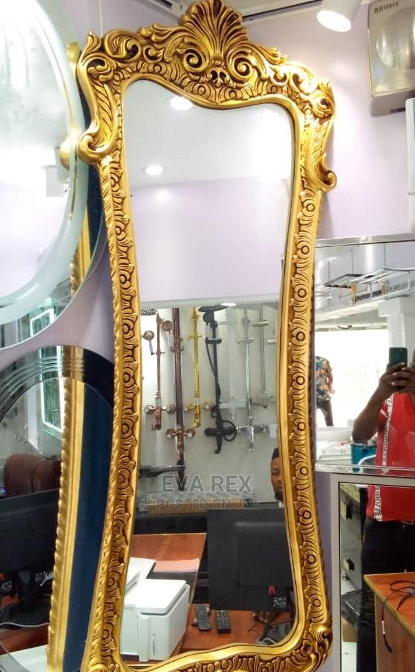 Long Wall Mirror With Gold Frame