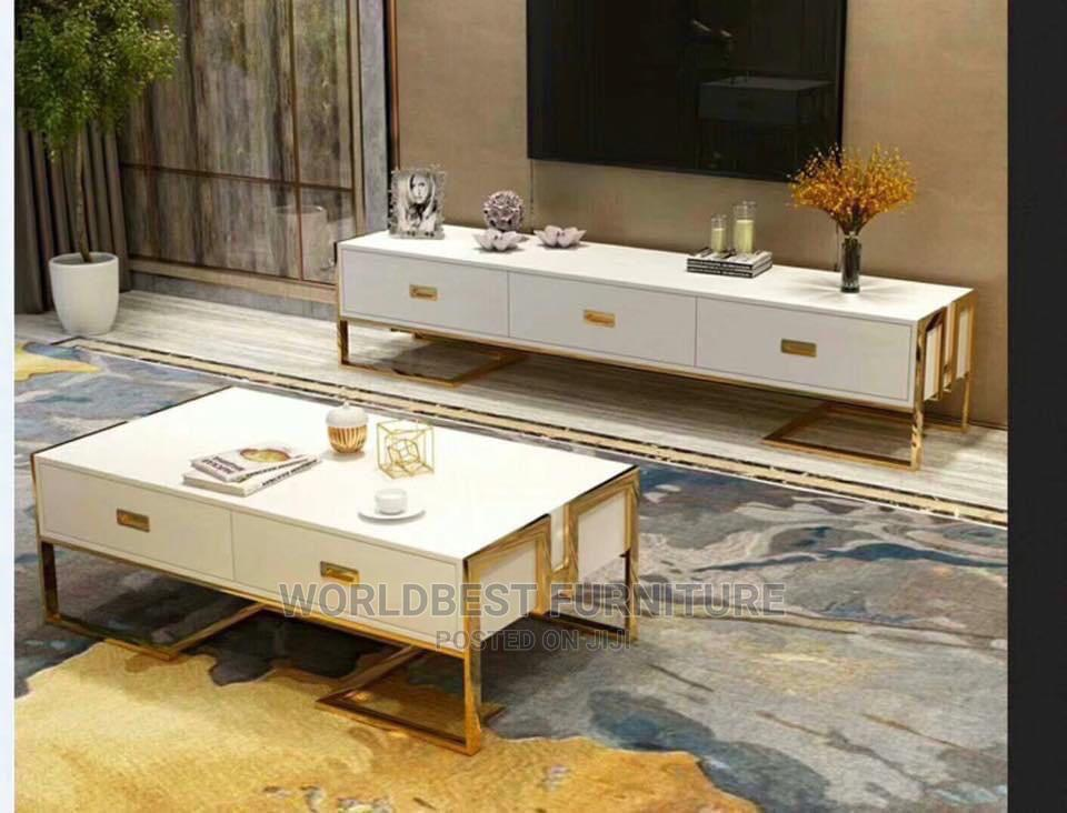 Archive: Tampered Glass Top Pure Wood Tv Stand and Table 400,000