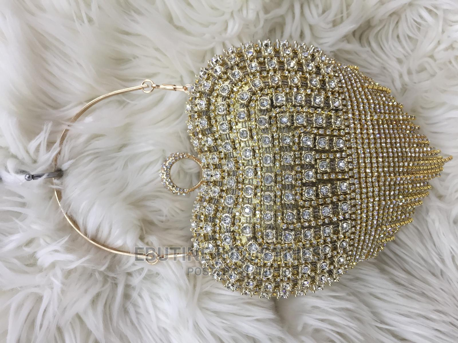 Women Quality Gold and Silver Clutch Purse