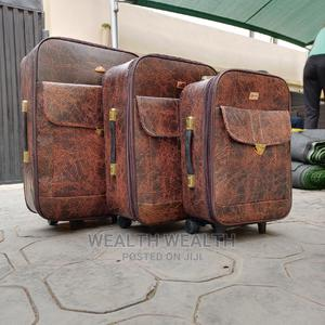 Executive 3 Set Quality Leather Luggage Bag   Bags for sale in Lagos State, Ikeja