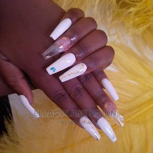Acrylic Nails Withe Design   Health & Beauty Services for sale in Abuja (FCT) State, Gudu