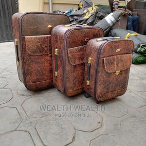 3 Set Executive Leather Trolley Luggage Bag   Bags for sale in Lagos State, Ikeja