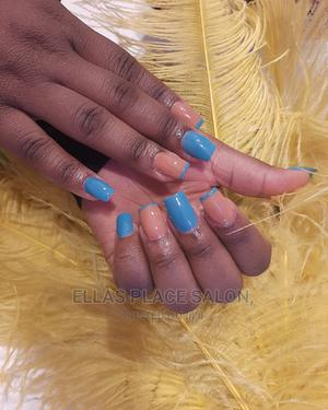 Pink and Blue Gel Coat Acrylic Nails   Health & Beauty Services for sale in Abuja (FCT) State, Gudu