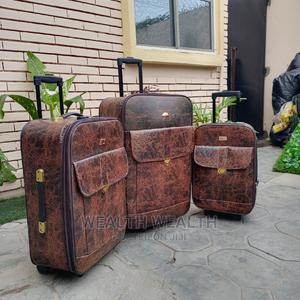 Standard Executive Family Leather Traveling Luggage Bag   Bags for sale in Lagos State, Ikeja