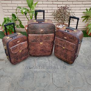 180 Degree Wheel Executive Leather Luggage Bag   Bags for sale in Lagos State, Ikeja
