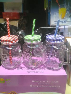 MASON JAR With Straw (Smoothie/Juice Drink) | Kitchen & Dining for sale in Lagos State, Lagos Island (Eko)