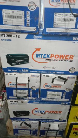 12v 200ahs Mtekpower Solar Battery | Solar Energy for sale in Lagos State, Ojo