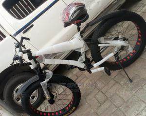 Big Tire Bicycle With Helmet | Sports Equipment for sale in Lagos State, Ikeja