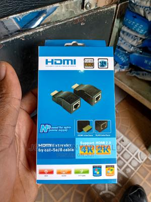HDMI to RJ45 Extender (Receiver Transmitter)Cat-5e/6 Cable   Computer Accessories  for sale in Lagos State, Ikeja