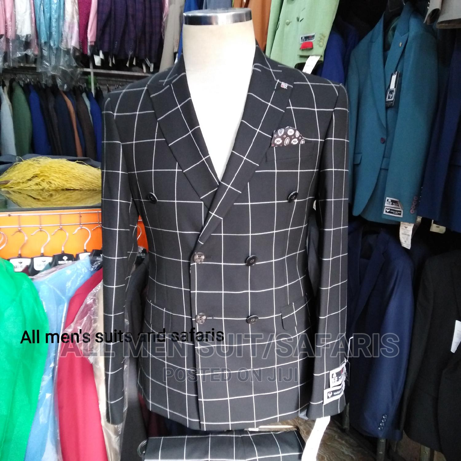 Check Double Breasted Suit
