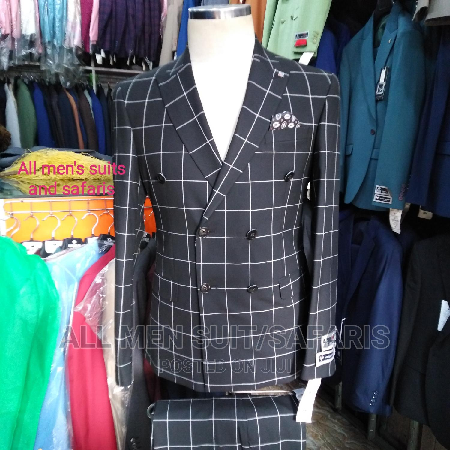 Check Double Breasted Suit   Clothing for sale in Yaba, Lagos State, Nigeria