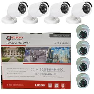 8 Channels DVR And 4 Outdoors, 4 Indoors CCTV Combo Camera   Security & Surveillance for sale in Lagos State, Ojo