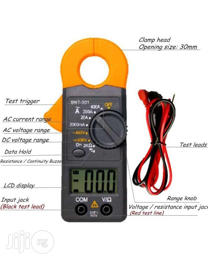 Portable LCD Digital Multimeter Clamp Meter SNT301 | Measuring & Layout Tools for sale in Lagos State, Nigeria