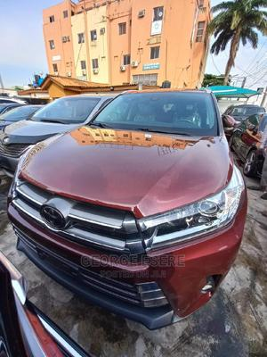 Toyota Highlander 2018 XLE 4x4 V6 (3.5L 6cyl 8A) Red   Cars for sale in Lagos State, Ikeja
