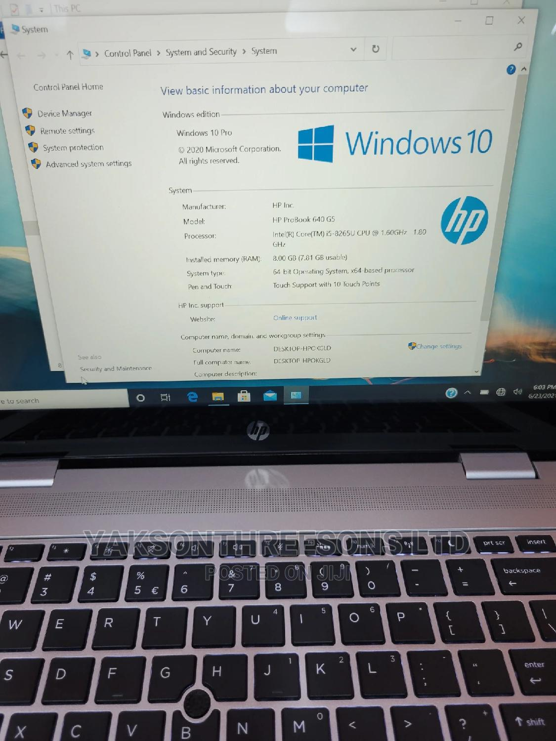 Laptop HP EliteBook 840 G5 8GB Intel Core I5 SSD 256GB | Laptops & Computers for sale in Wuse, Abuja (FCT) State, Nigeria