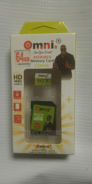 Omni 64gb Antivirus Memory Card | Accessories for Mobile Phones & Tablets for sale in Lagos State, Abule Egba