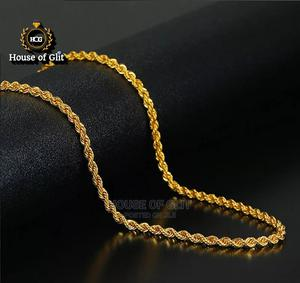18k Gold Twisted Chain Necklace   Jewelry for sale in Imo State, Owerri