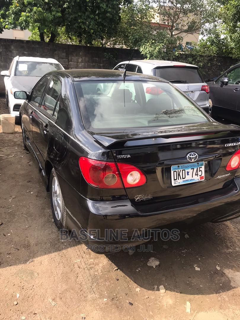 Toyota Corolla 2007 Black   Cars for sale in Isolo, Lagos State, Nigeria