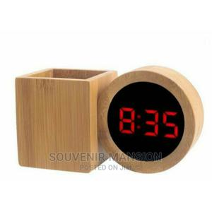Led Wooden Clock With Pen Holder | Home Accessories for sale in Lagos State, Lagos Island (Eko)