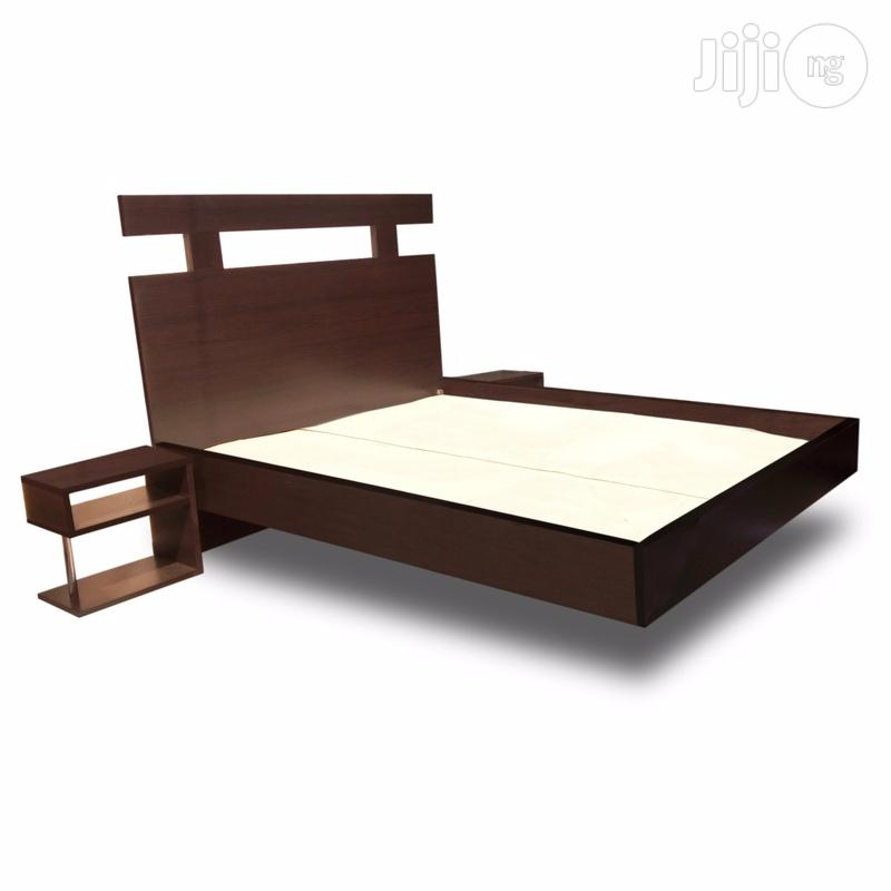 Floating Bed Frame With 2 Side Desks. 4.5ft X 6ft   Furniture for sale in Abule Egba, Lagos State, Nigeria