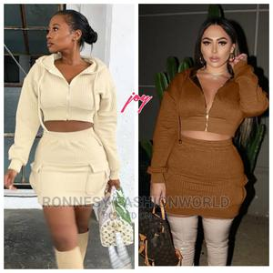 Classic Trendy Female Quality Hoodie Crop Top and Skirt | Clothing for sale in Lagos State, Ikeja