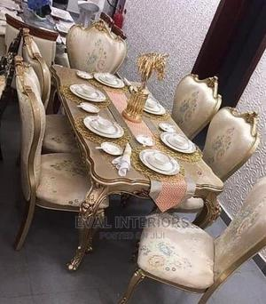 Royal Wooden Dining Table With 6 Chairs   Furniture for sale in Lagos State, Ajah
