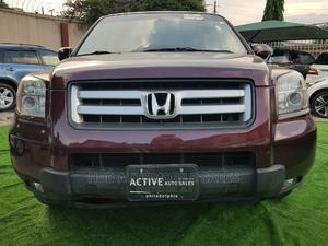 Honda Pilot 2008 EX-L 4x4 (3.5L 6cyl 5A) Red | Cars for sale in Lagos State, Ikeja