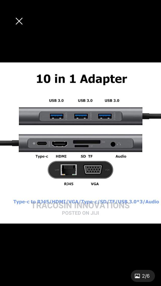 USB Type C Hub 10 in 1   Accessories & Supplies for Electronics for sale in Yaba, Lagos State, Nigeria