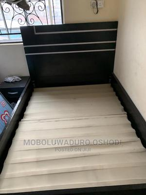 6ft by 41/2 Bed Frame, Mattress,Bedside Drawer and Mirror   Furniture for sale in Lagos State, Surulere