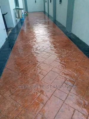 Stamped Concrete Floor Design and Landscaping   Building & Trades Services for sale in Lagos State, Lekki