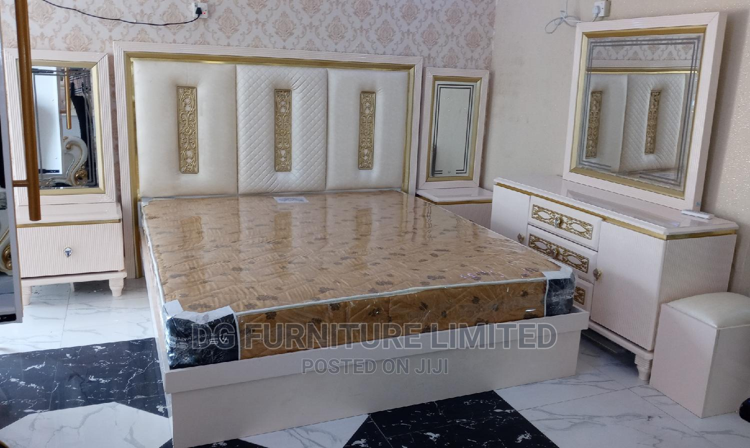 Archive: Classic and Elegant Bed With Bedside and Dressing Mirror