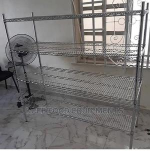 Stainless Steel Wire Shelf/Cooling Rack 5ft   Store Equipment for sale in Lagos State, Amuwo-Odofin