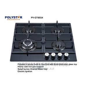 Polystar 4 Burner Gas Hob With Glass Cooktop - PV-GT60G4   Kitchen Appliances for sale in Lagos State, Victoria Island