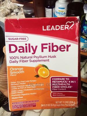 Leader Daily Fiber 100% Natural Psyllium Husk | Vitamins & Supplements for sale in Lagos State, Ojo