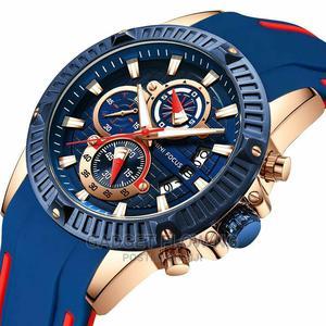 MINI FOCUS Men's Watch Quartz Sport Chronograph Silicone | Watches for sale in Edo State, Benin City