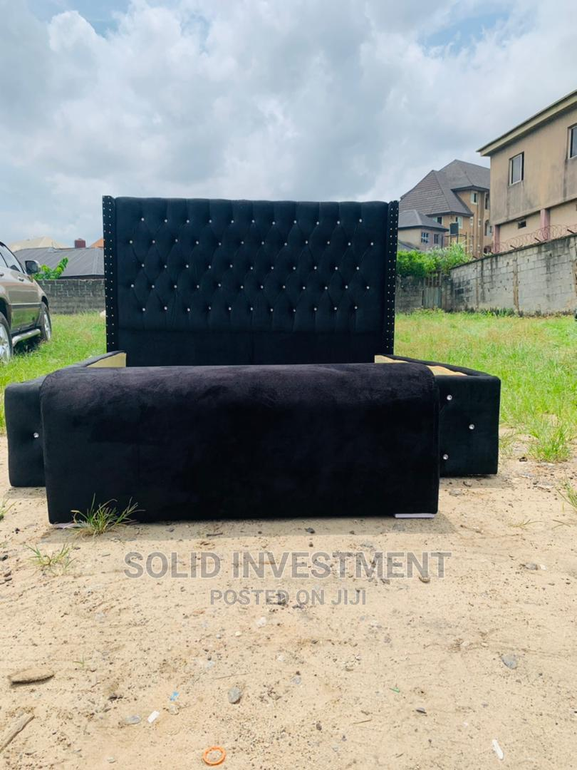 6/6 Bed Frame With Two Side and Footrest