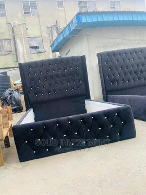 4/6 Upholstery Padded Bed Frame | Furniture for sale in Lagos State, Lekki