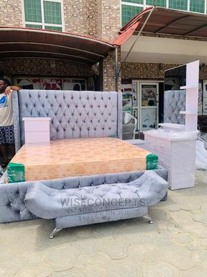 6by6 Upholstery Bed Frame Complete Set | Furniture for sale in Lagos State, Ojo