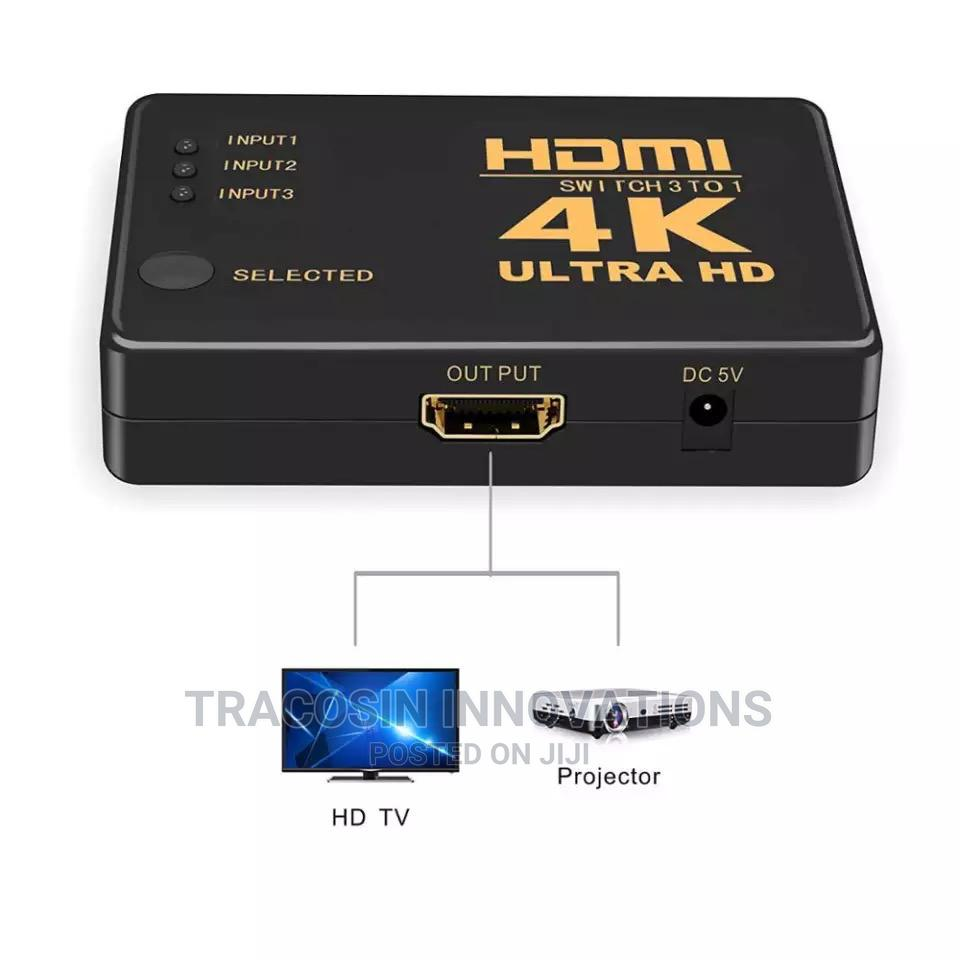 4K HDMI Switch 3 Way With Remote   Accessories & Supplies for Electronics for sale in Yaba, Lagos State, Nigeria