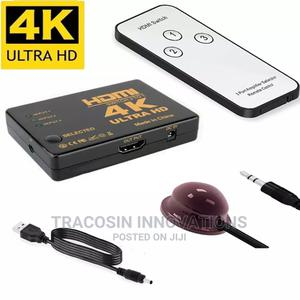 4K HDMI Switch 3 Way With Remote | Accessories & Supplies for Electronics for sale in Lagos State, Yaba