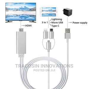 Lightning to HDTV Cable (HDMI) 3 in 1 | Accessories & Supplies for Electronics for sale in Lagos State, Yaba
