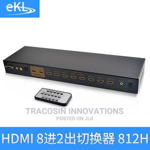 HDMI Switch /Splitter 8 in 2 Out With Remote | Accessories & Supplies for Electronics for sale in Lagos State, Yaba